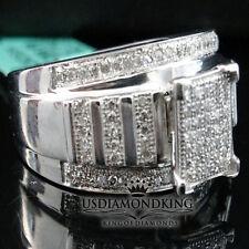 LADIES WOMEN'S REAL DIAMOND CINDERELA RING WEDDING ENGAGEMENT ANNIVERSARY BAND