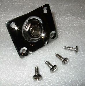 Guitar Telecaster - Custom Build Output Jack with Chromed Plate & Chrome Screws