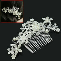 Bridal Wedding Crystal Jewel Diamante Hair Comb Hair Clip Slide Fascinator UK