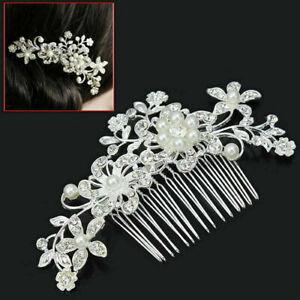 Bridal Wedding Crystal Jewel Diamante Hair Comb Hair Clip Slide Fascinator UK