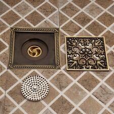 "6""X6"" Antique Brass Bathroom Stainless Steel Square Waste Floor Drain"
