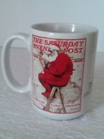 The Saturday Evening Post Santa Coffee Mug / Cup Collectible Norman Rockwell