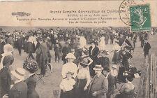 REIMS AVION AVIATION semaine aéronautique monoplan antoinette août 1909 timbrée