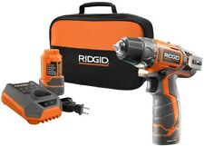 Drill Kit Lithium-Ion 3/8 in. Cordless Keyless Orange Brushed Power Tool 12-Volt