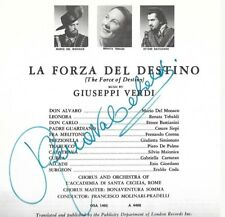 RENATA TEBALDI signed program  OPERA GREAT  Soprano   LARGE SIGNATURE   RARE