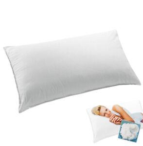 Kissen Zum Bett Kissenbezug Baumwolle Weich Hypoallergen 100% Made IN Italy