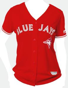 Toronto Blue Jays Majestic Women's Cool Base Replica Player Jersey - Scarlet