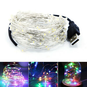 USB-Plug In 10/50/100LED DIY Micro Copper Wire Fairy String-Light Home Christmas