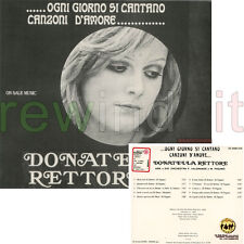 """DONATELLA RETTORE """"OGNI GIORNO SI CANTANO CANZONI D'AMORE"""" RARO CD 1999 DIGIPACK"""