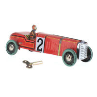 Vintage Wind-up Red Racer Race Car Toy