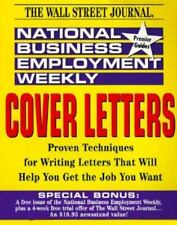 National Business Employment Weekly Career Guides: Cover Letters, Brand New PB