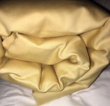 "Beige ""Straw"" Yellow Gold Sateen King Duvet Comforter Cover 450TC Company Store"