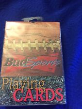 Vtg 1999 Sealed Bud Sports Football Playing Cards Nos