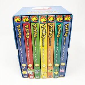 Pokemon Adventures Red & Blue Box Set Volumes 1-7 Manga Charizard Blastoise Used