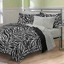 My Room Zebra Complete Bed in a Bag Bedding Set, Black/White twin