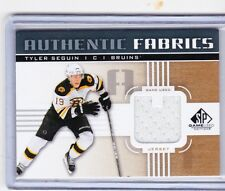 11-12 2011-12 SP GAME USED TYLER SEGUIN 'U' AUTHENTIC FABRICS JERSEY GOLD BRUINS