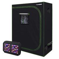 "VIVOSUN 48""x24""x60"" Mylar Grow Tent Kit w/ 300W LED Grow Light for Indoor Plant"