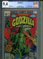 GODZILLA #1 CGC 9.4 WHITE Marvel Comics Movie Kaiju King of the Monsters Trimpe