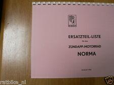 Z0015 ZUNDAPP---ERSATZTEILLISTE---NORMA-MODEL