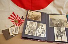 WW2 Japanese photo album, badges