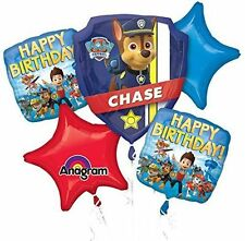 Paw Patrol Birthday Mylar Bouquet Balloons Party Decoration Set of 5