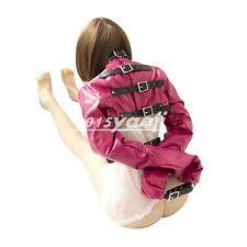 Leather Body Harness Bondage Cupless Sleeve Straight Jacket Gay Fetish Gimp Rosy