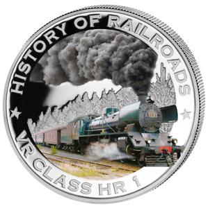 Liberia 2011 $5 History of Railroads - VR Class HR 1 Proof Silver Coin