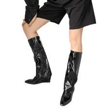 Women Zipper 5.5cm Heel Square Toe Mid Calf Knee High Boots Shoes Comfy 34-45 D