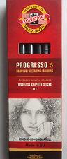 Koh-I-Noor Progresso Woodless Graphite Pencils - Set of 6