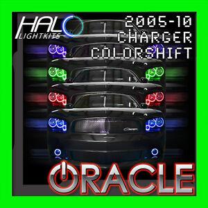2006-2010 ORACLE DODGE CHARGER COLORSHIFT LED HEADLIGHT+FOG HALO RINGS KIT