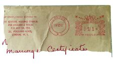 GREAT BRITAIN 1967 POST PAID 1/1 PB0768 1967 GENERAL NURSING COUNCIL RED MARK