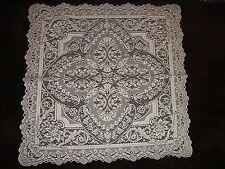 New  Silver Metallic lace Savoy Design Table Topper 30 x 30