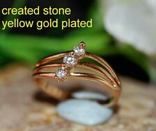 DIAM0ND 1.5mm 3 stones  ring size P 8