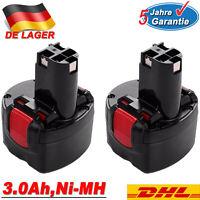 2x 3,0AH 9.6V Akku für Bosch BAT048 2607335524 2607335461 PSR 960 GSR 260700180