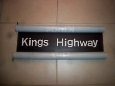 R27 NYC SUBWAY SIGN KINGS HIGHWAY BROOKLYN BKLYN COLLECTIBLE NY ROLL SIGN ART
