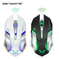 2.4GHz wireless Gaming Mouse Rechargeable With Breathing Light ZERODATE