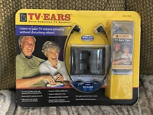 TV Ears 2.3 MHZ Wireless Headset System W/ 10 Replacement Ear Tips Brand New NIB