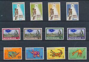 LO15641 Botswana christmas holidays fine lot MNH