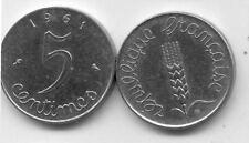 Pièce de monnaie COIN FRANCE 5 Centimes EPI 1961 trés bon état