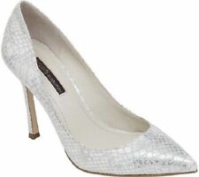 BCBGeneration Treasure Dress Pointed Pumps Silver Multi Irridescent Snake 10 New