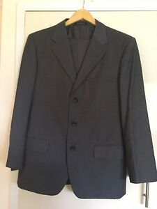 Giorgio Armani Italy Style Grey Wool Mix 2 Piece Suit Size 50 (see Notes)