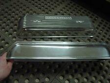 NOS Offy Offenhauser Olds Oldsmobile 1957-58 371 finned alum valve covers
