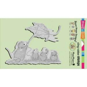 STAMPENDOUS House Mouse Leaf Kite Cling Mount Stamp Retired HMCR80