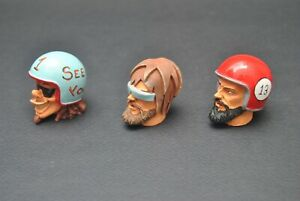TAMIYA SET DRIVER HEADS 3 PIECES HANDPAINTED 1/10