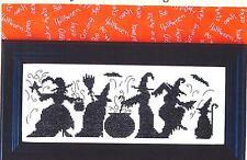 """HALLOWEEN SEASON OF THE WITCHES""  Cross Stitch Pattern - Bobbie G Designs"