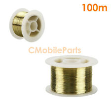 100m / 329ft Gold Alloy Molybdenum LCD Screen Cutting Wire Separator (0.10 mm)