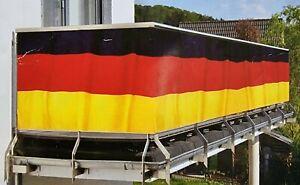 Balkon Sicht Schutz Deutschland 300x90 cm Fussball EM WM Fahne Flagge Handball