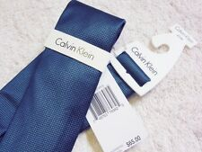 Calvin Klein 100% Silk Neck Tie Slim Skinny Tie Micro Quilt Solid NEW W/TAG$65.0