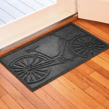 Bungalow Flooring Aqua Shield Bicycle 2 feet x 3 feet Mat Charcoal 20618540023