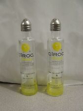 Pair CIROC PINEAPPLE Vodka Mini Liquor 50ml Bottles  SALT & PEPPER Shakers